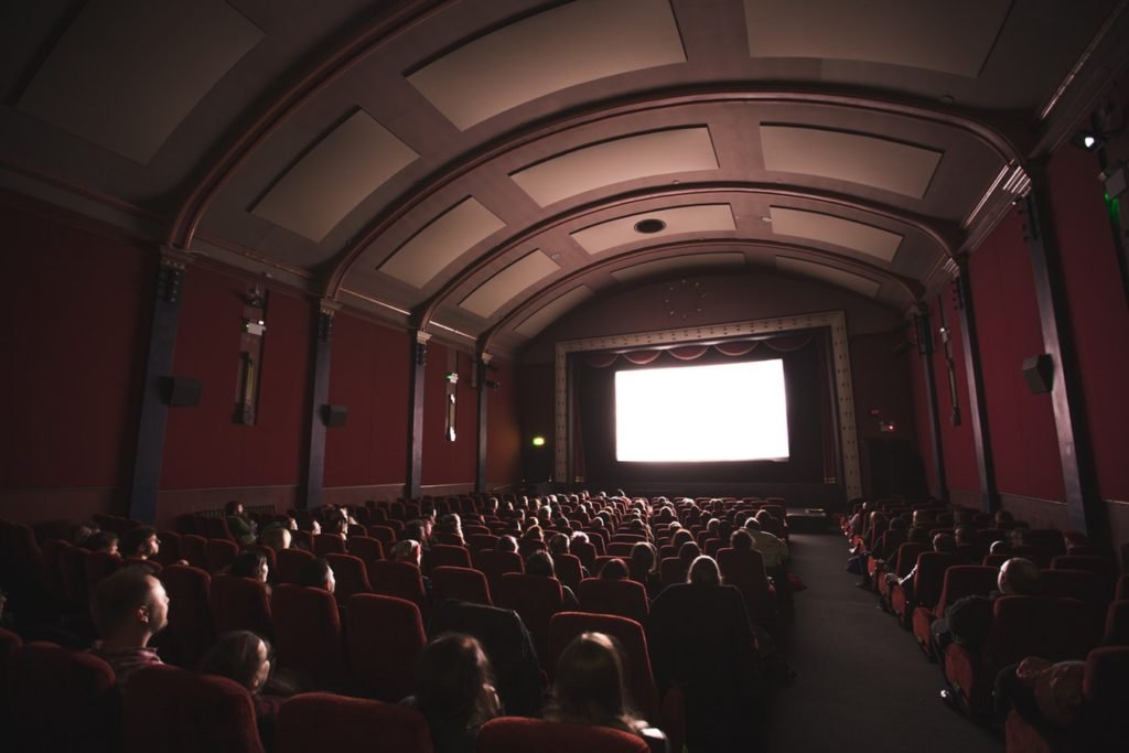 Movie theater emotion in writing