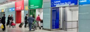 UK airport customs Dancing King